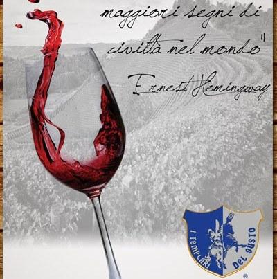 """Poster Inaugurazione """"I Templari del Gusto"""""""