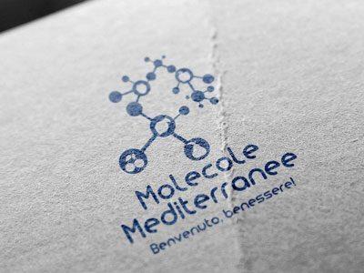 "Logo Design & Mockup Brand ""Molecole Mediterranee"""