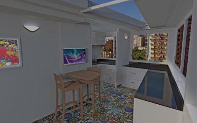 Appartamento Montecarlo vista mare