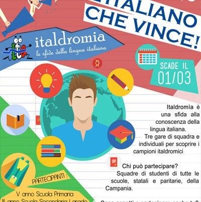 """Locandina """"Italdromia: le sfide della lingua italiana"""""""