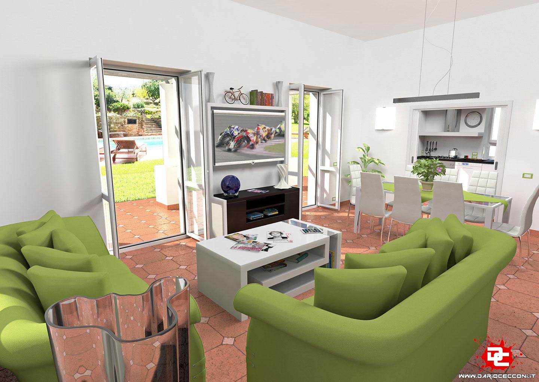 Progettazione Soggiorno/Cucina Villa Capri - Dario Cecconi ...
