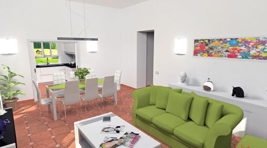 Progettazione Soggiorno/Cucina Villa Capri - Dario Cecconi  IT Consultant, Web Designer & 3D Artist