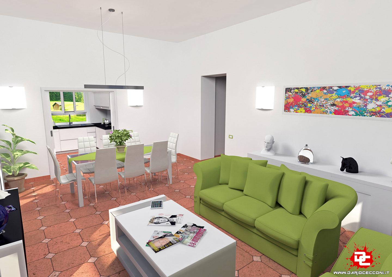Progettazione Soggiorno/Cucina Villa Capri - Dario Cecconi | IT ...